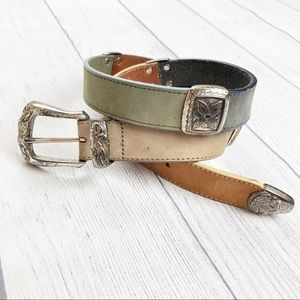 Vintage Brighton Leather Multi Color Belt L